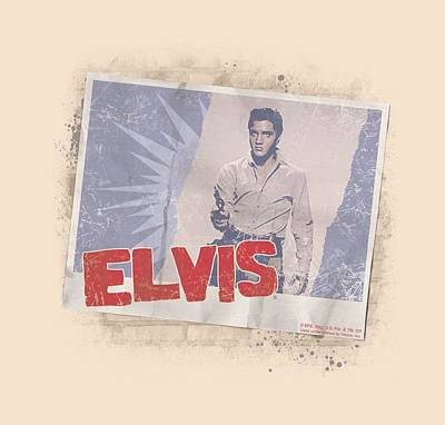 The King Digital Art - Elvis - Tough Guy Poster by Brand A