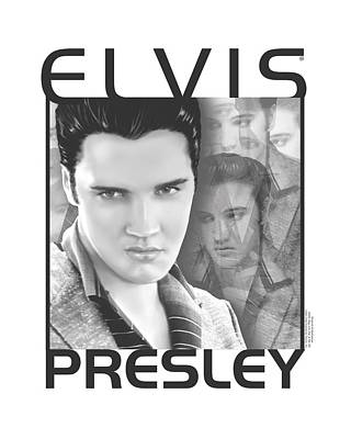 The King Digital Art - Elvis - Up Front by Brand A