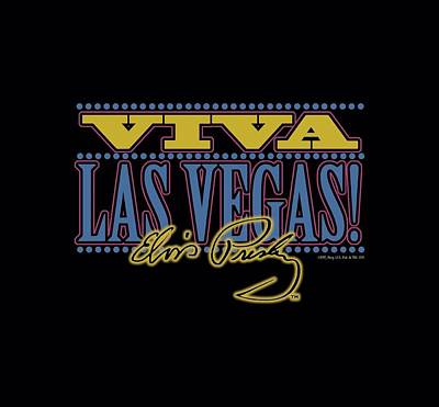 The King Digital Art - Elvis - Viva Las Vegas by Brand A