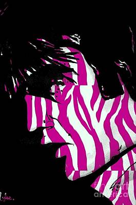 Painting - Elvis With Stripes by Saundra Myles