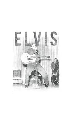 The King Digital Art - Elvis - With The Band by Brand A