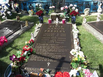 Elvis's Grave Art Print by Deborah Smolinske