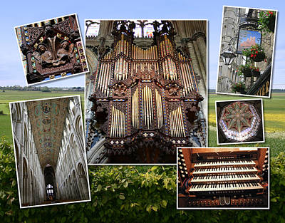 Organs Photograph - Ely Montage by Jenny Setchell