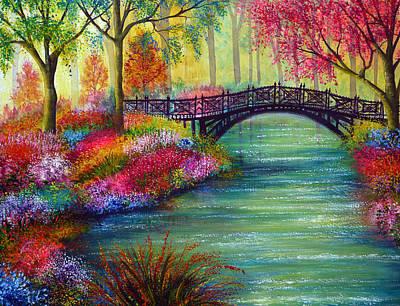 Forest Painting - Elysian Bridge by Ann Marie Bone