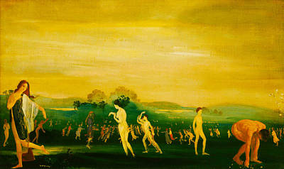 Elysian Fields Art Print by Arthur B Davies