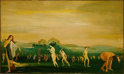 Elysian Fields Art Print by Arthur Bowen Davies