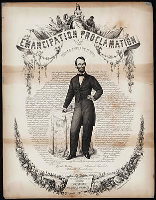 Proclamation Painting - Emancipation Proclamation Issued January 14 1863 by MotionAge Designs
