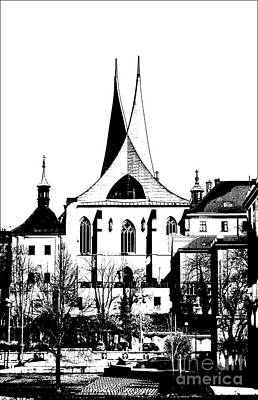 Cityspace Mixed Media - Emauzy - Benedictine Monastery by Michal Boubin