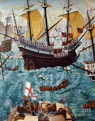 Embarkation Of Henry Viii Print by Friedrich Bouterwek