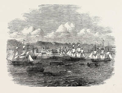 Port Elizabeth Drawing - Embarkation Of The 13th Or Prince Alberts Light Infantry by English School