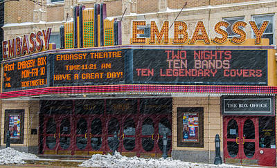 Photograph - Embassy Theatre Fort Wayne by Gene Sherrill