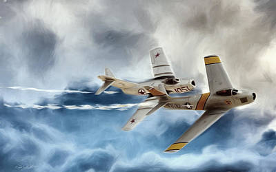 Embattled Mig Alley Art Print by Peter Chilelli