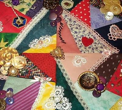 Crazy Quilt Photograph - Buttons And Beads And Baubles Oh My by Paula Talbert