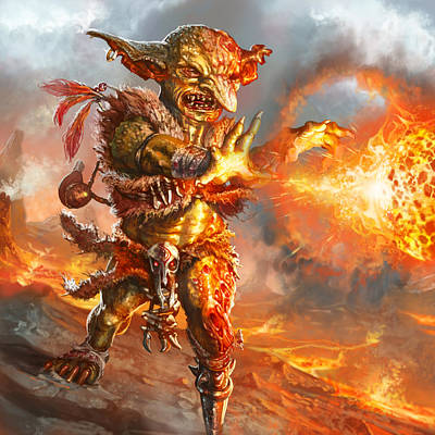 Goblin Digital Art - Embermage Goblin by Ryan Barger