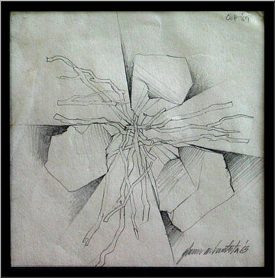 Drawing - Embers B 1969 by Glenn Bautista