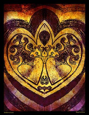 Digital Art - Emblem Of Love by Roxy Hurtubise