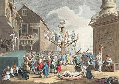 Emblematical Print Of The South Sea Print by William Hogarth