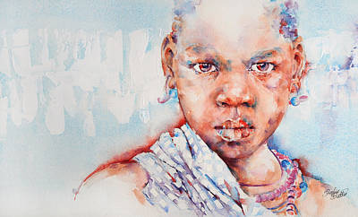 Embolden - African Portrait Art Print by Stephie Butler
