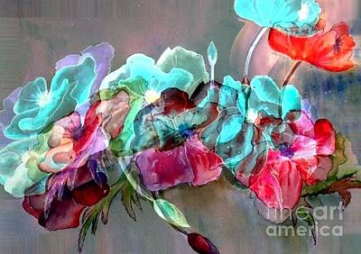 Painting - Embossed Floral by Iris Gelbart