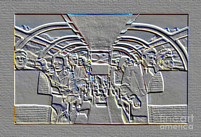 Photograph - Embossed Passengers by Steven Parker