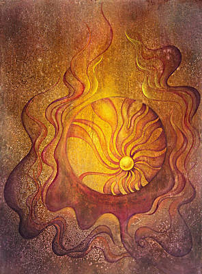 Metaphysical Painting - Embrace by Ellen Starr