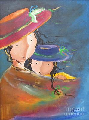 Art Print featuring the painting Embrace by Nereida Rodriguez
