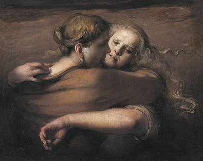 Family Love Painting - Embrace by Odd Nerdrum