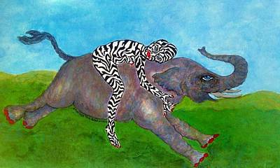 Bipolar Drawing - Embrace The Beast Within by Suzanne Macdonald