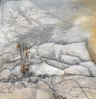 Raw Sienna Mixed Media - Embrace The White by Laura  Lein-Svencner