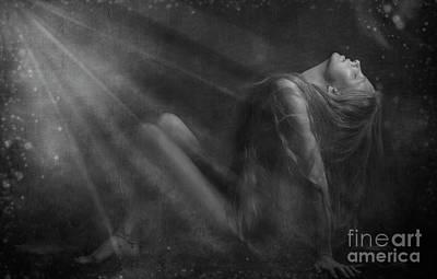Embraced By The Light.. Art Print by Nina Stavlund
