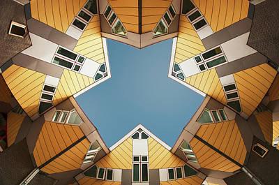 Rotterdam Photograph - Embracing The  Blue Sky by Gerard Jonkman