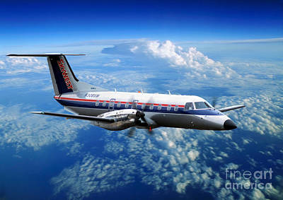 Fixed Wing Multi Engine Photograph - Embraer Emb-120er Braslia Skywest  by Wernher Krutein