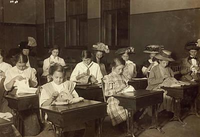 Embroidery Class, 1909 Art Print