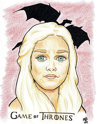 Emelia Clarke - Game Of Thrones Art Print