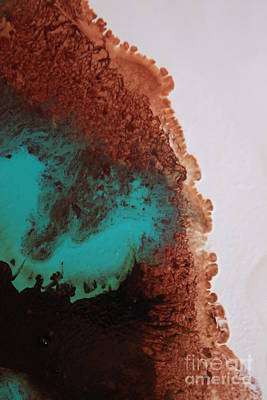 Photograph - Emerald And Brown Mixing by Lisa Payton