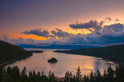Emerald Bay Before Sunrise Art Print by Marc Crumpler