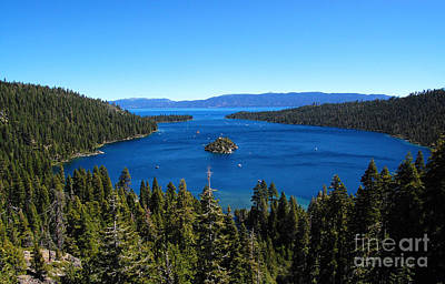 Photograph - Emerald Bay Lake Tahoe California by Debra Thompson