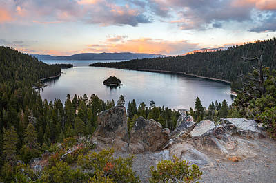 Restful Photograph - Emerald Bay Lake Tahoe by Leland D Howard