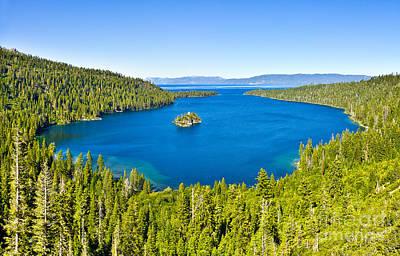 Photograph - Emerald Bay - Lake Tahoe by John Waclo