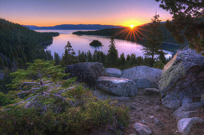 Sun Rays Photograph - Emerald Bay by Sean Foster
