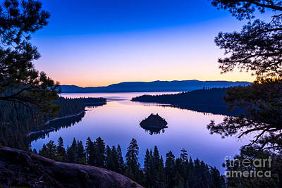 Emerald Bay Photograph - Emerald Bay Sunrise by Jamie Pham