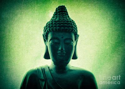 Sangha Painting - Emerald Buddha by Aeon Art
