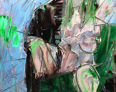 Mixed Media - Emerald Chair by Jim Vance