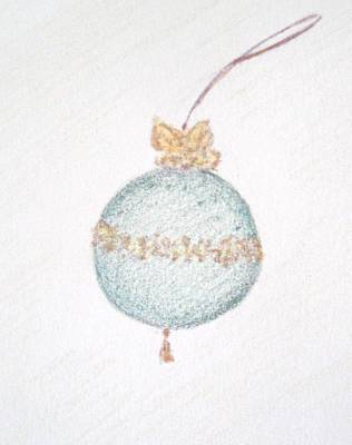 Drawing - Emerald Christmas Ornament by Christine Corretti