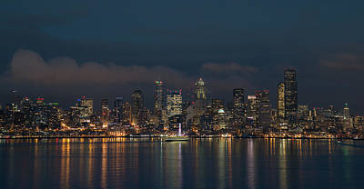 Photograph - Emerald City At Night by E Faithe Lester