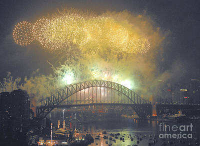Emerald City - Sydney Harbour New Years Eve Fireworks Original by Philip Johnson