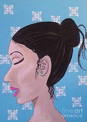 Elegant Painting - Emerald Earring by Debra Acevedo