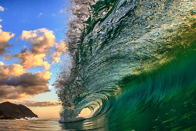 Surfing Photograph - Emerald Evening by Gregg  Daniels