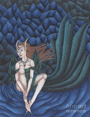 Emerald Eyes Art Print by Coriander  Shea