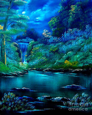 Cynthia-adams-uk Painting - Emerald Falls 2 by Cynthia Adams